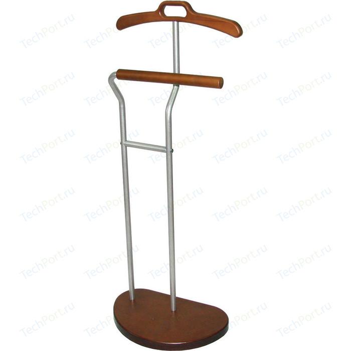 Вешалка костюмная Мебелик Д 10 металлик/средне-коричневый