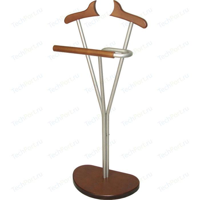 Вешалка костюмная Мебелик Д 8М металлик/средне-коричневый