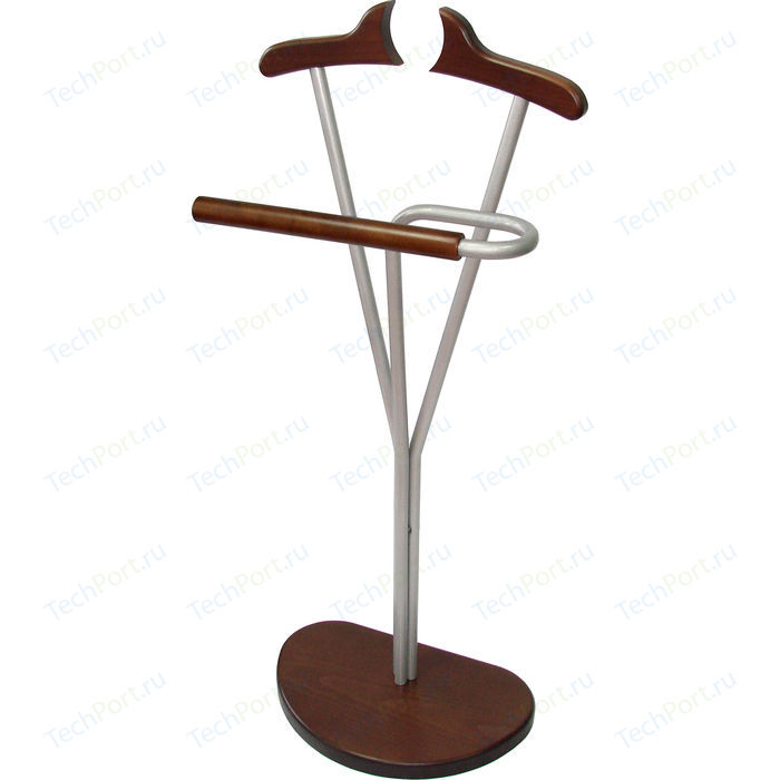 Вешалка костюмная Мебелик Д 8М металлик/темно-коричнеый