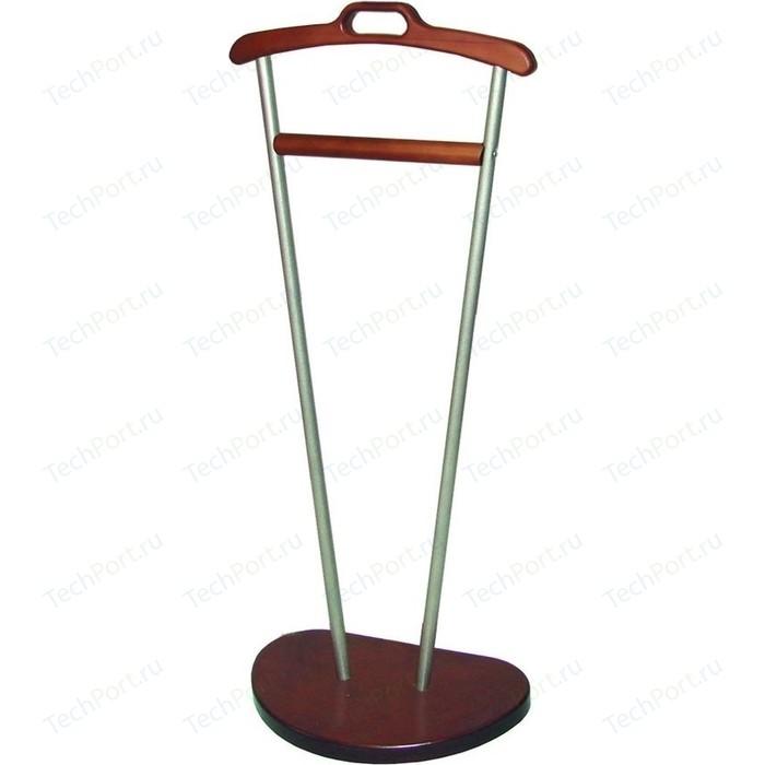 Вешалка костюмная Мебелик Д 9 металлик/средне-коричневый