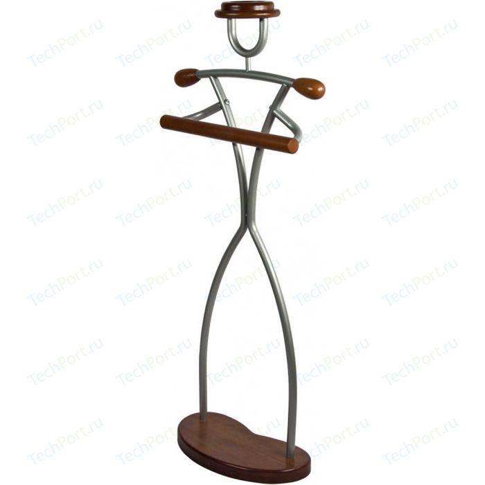 Вешалка костюмная Мебелик Галант 331 Фрау металлик/средне-коричневый