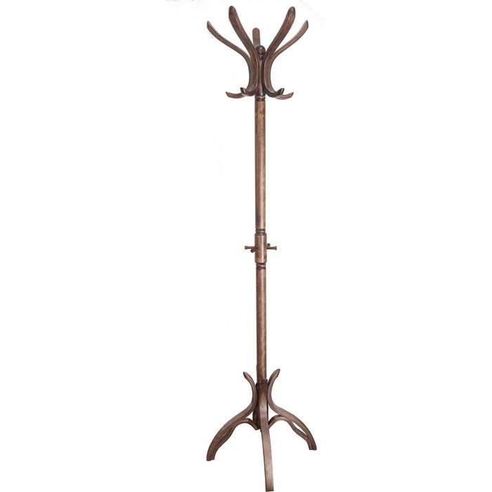Вешалка напольная Мебелик В 12Н средне-коричневый