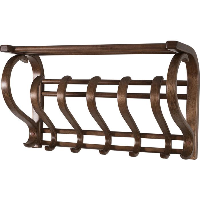 Вешалка настенная Мебелик В 5Н средне-коричневый