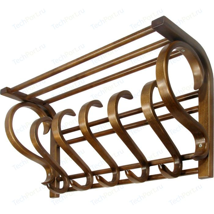 Вешалка настенная Мебелик В 5Н тёмно-коричневый
