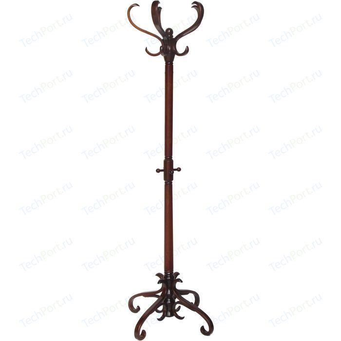 Вешалка напольная Мебелик В 2Н тёмно-коричневый