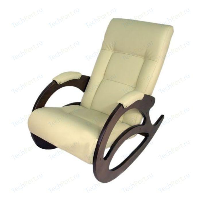 Кресло-качалка Мебелик Тенария 1 эко-кожа слоновая кость