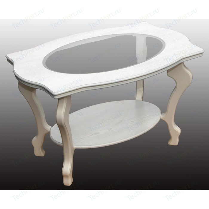 Стол журнальный Мебелик Берже 1С белый ясень