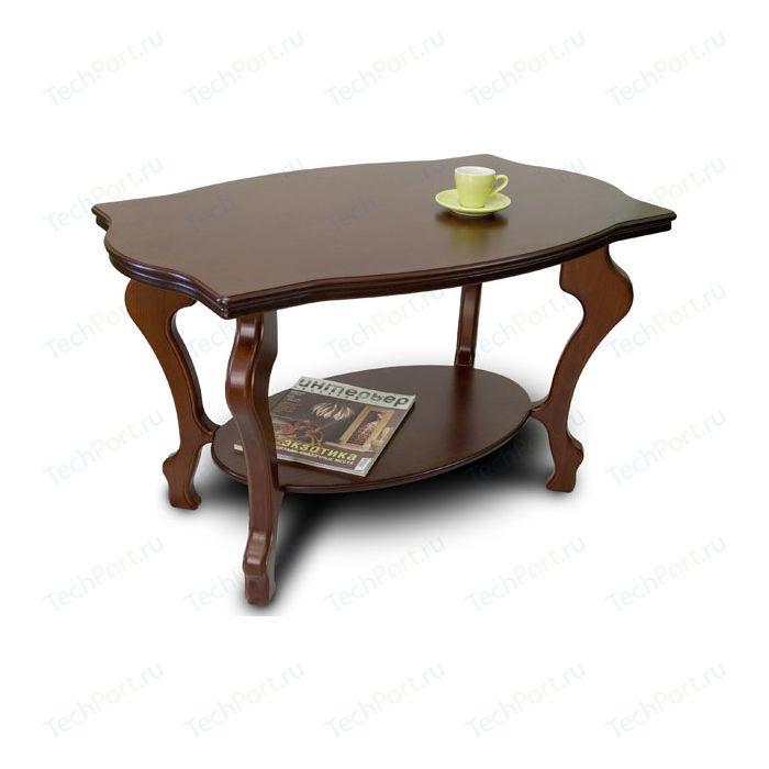 Стол журнальный Мебелик Берже 3 темно-коричневый