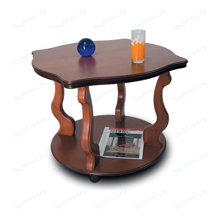 Стол журнальный Мебелик Берже 4 средне-коричневый