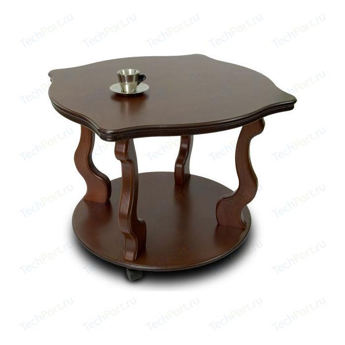 Стол журнальный Мебелик Берже 4 тёмно-коричневый