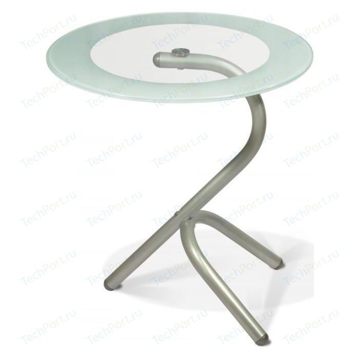 Стол журнальный Мебелик Дуэт 5 металлик/прозрачное