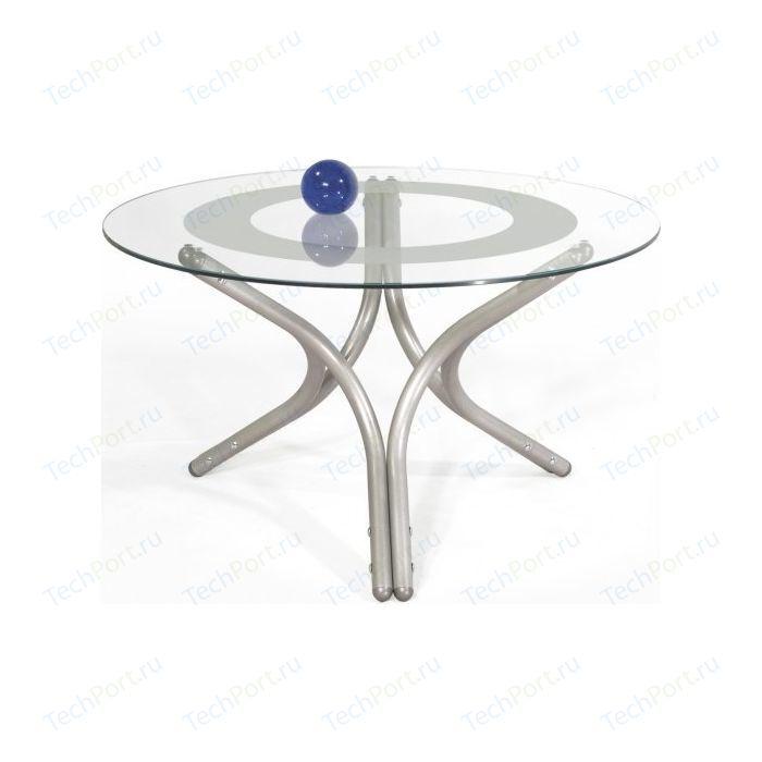 Стол журнальный Мебелик Дуэт 6 металлик/прозрачное