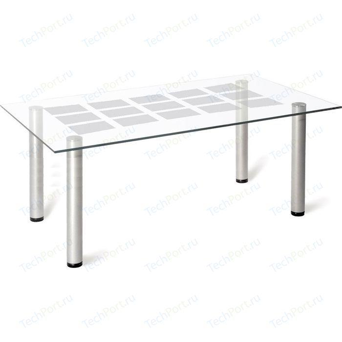 Стол журнальный Мебелик Робер 11М металлик/прозрачное