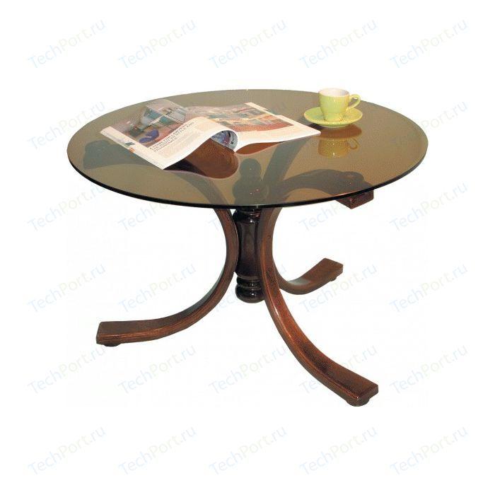 Стол журнальный Мебелик Лорд средне-коричневый/тонированное