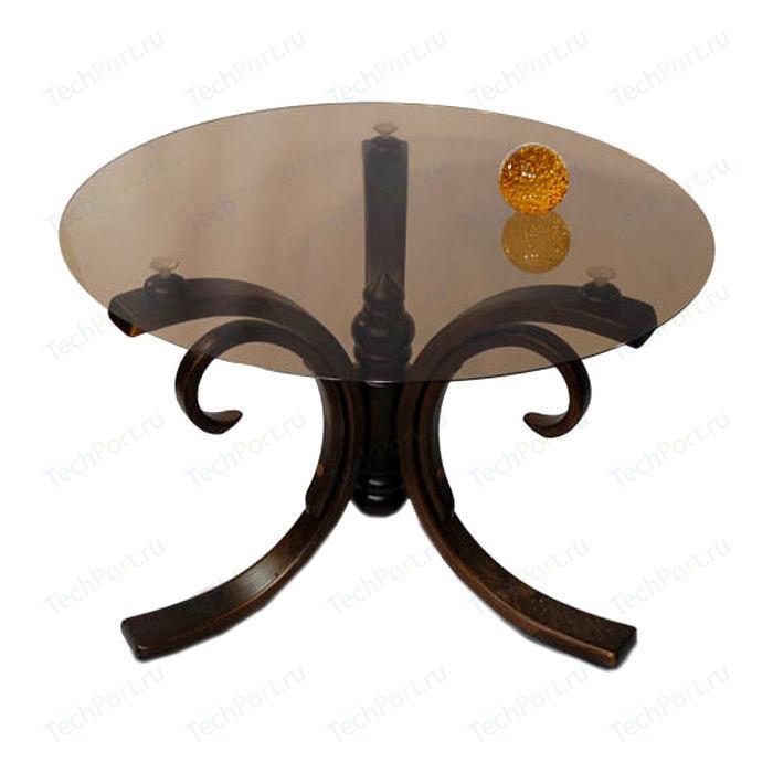 Стол журнальный Мебелик Миледи темно-коричневый