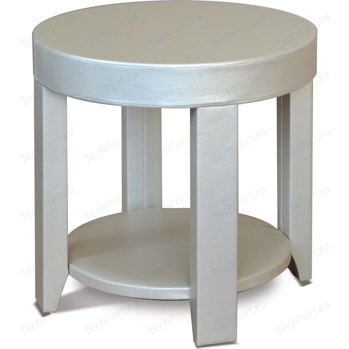 Стол журнальный Мебелик Сакура 1 эко-кожа/слоновая кость