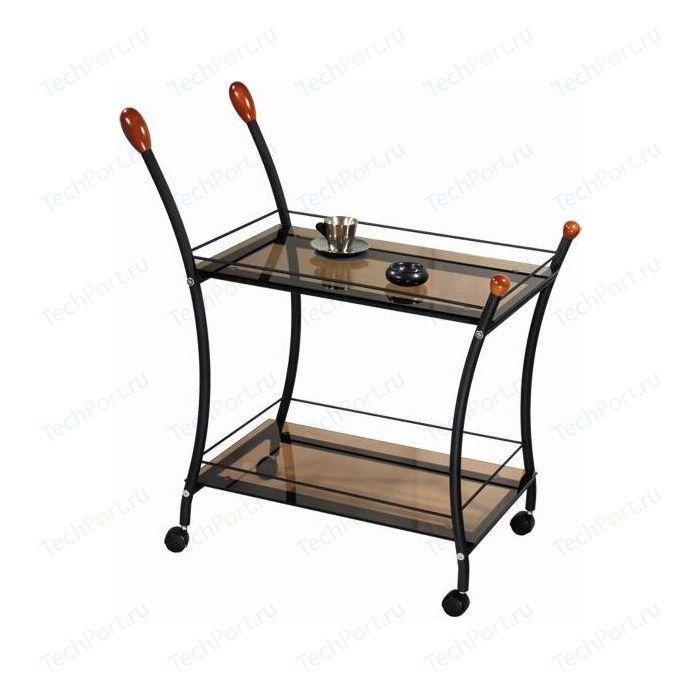 Стол сервировочный Мебелик Поло черный/тонированное