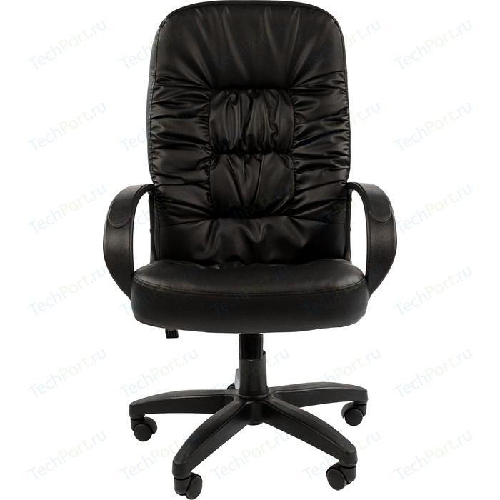Офисное кресло Chairman 416 ЭКО черный глянец