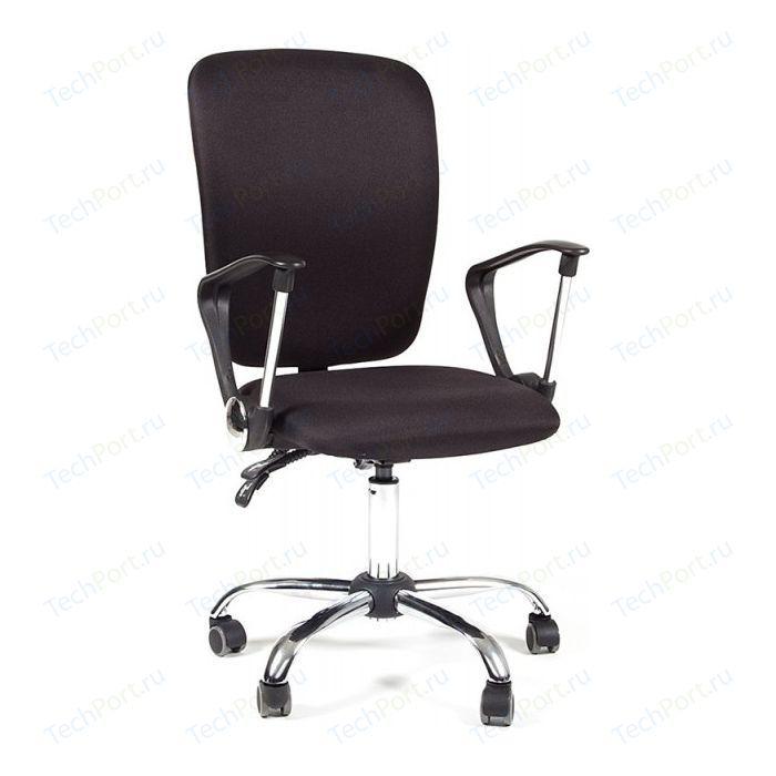 Офисное кресло Chairman 9801 хром, ткань черная