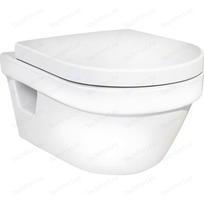 Унитаз Gustavsberg Hygienic Flush WWS подвесной безободковый с сиденьем (5G84HR01)