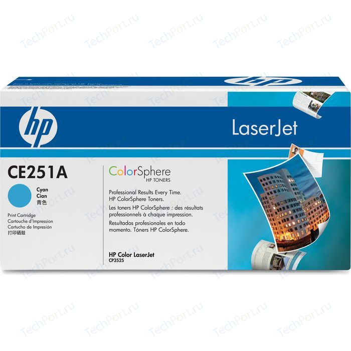 Картридж HP CE251A hp color laserjet c8561a blue