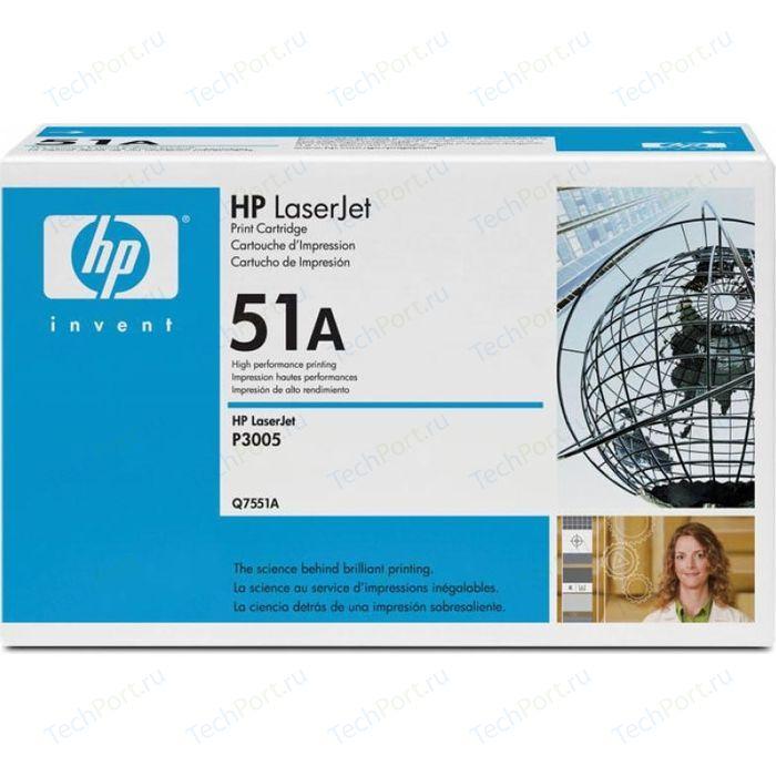 Картридж HP Q7551A картридж hp q7551a для hp lj p3005 m3035 m3027 черный