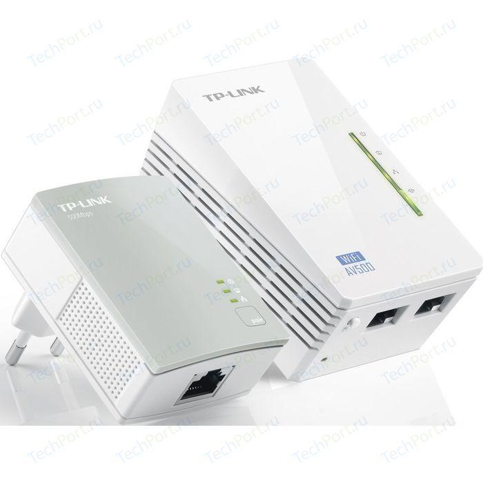 Комплект адаптеров Powerline TP-LINK TL-WPA4220KIT сетевой адаптер powerline tp link tl pa7010pkit ethernet