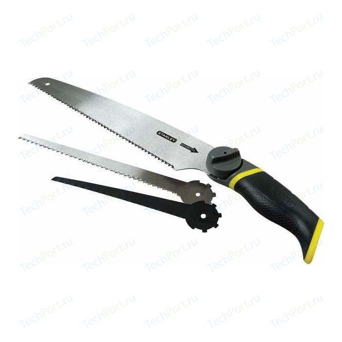 Ножовка Stanley универсальная с тремя сменными полотнами 3-в-1 (0-20-092)