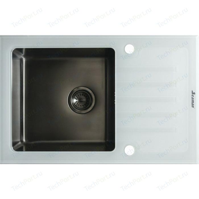 Кухонная мойка Seaman Eco Glass SMG-780W.B Gun PVD