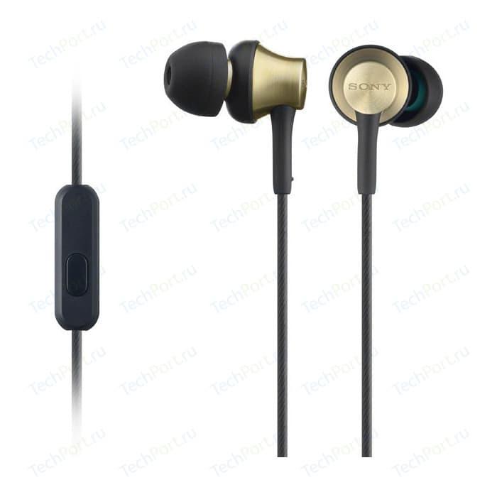 Наушники Sony MDR-EX650AP brass brown