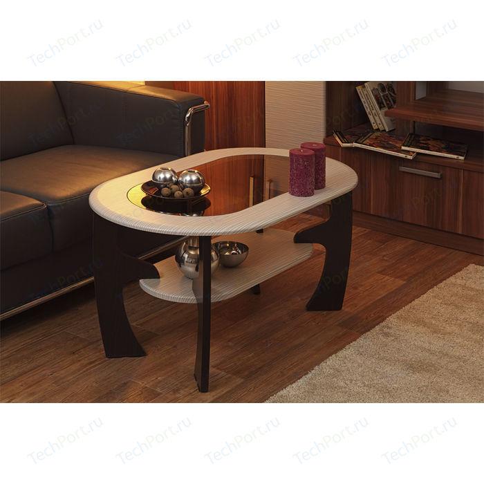 Фото - Стол журнальный ОЛМЕКО Маджеста-2 ясень шимо темный/светлый стол журнальный моби мишель 2071 ясень темный светлый