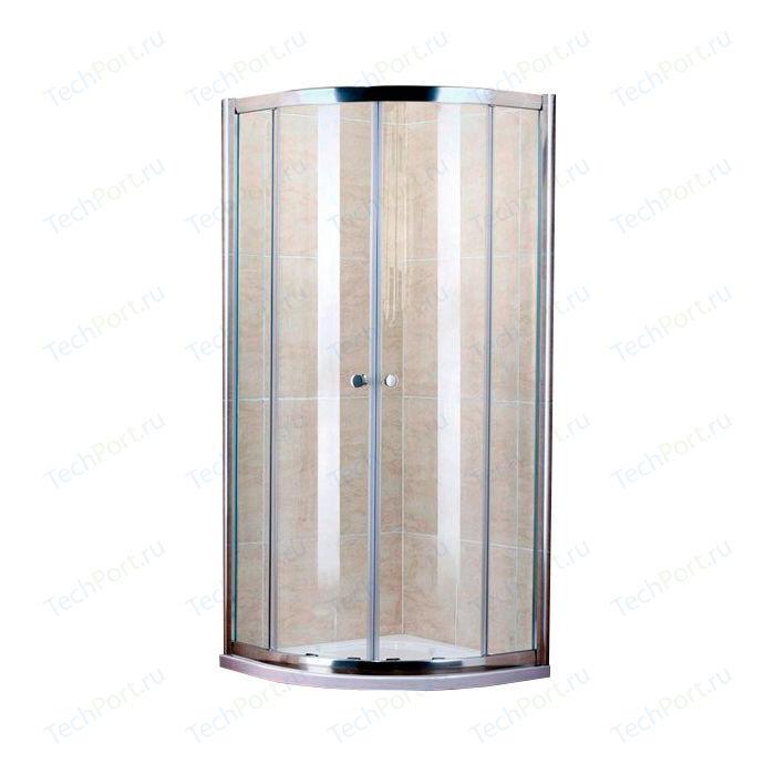 Душевой уголок Cezares Pratico R-2 80х80 прозрачный, хром (Pratico-R-2-80-C-Cr)