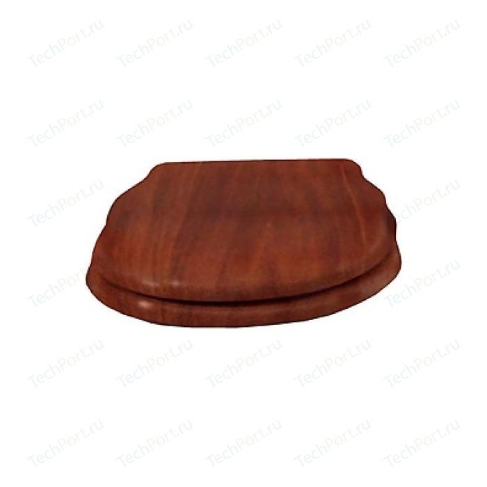 Сиденье для унитаза Cezares Royal Palace с микролифтом, деревянное орех, фурнитура золото (CZR-T-012W-S-G)
