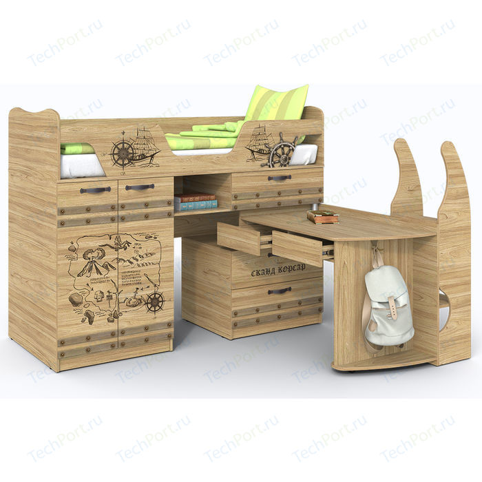 Кровать-чердак СКАНД-МЕБЕЛЬ Корсар 1 кровать двухъярусная сканд мебель корсар 6