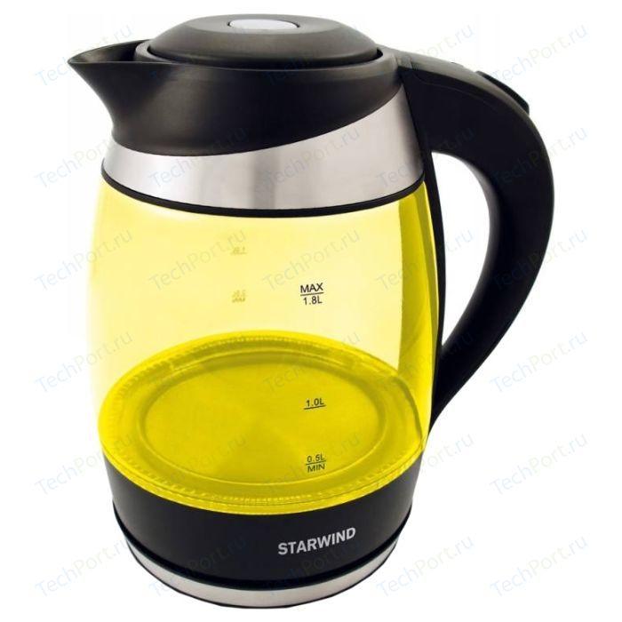 Чайник электрический StarWind SKG2215 желтый/черный чайник электрический starwind skg2212 оранжевый черный