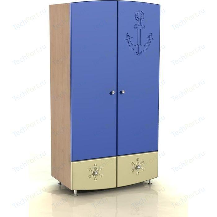 Шкаф для одежды Compass Капитошка ДК-1 синий/ваниль шагрень ботинки для мальчика капитошка цвет синий белый 105 бп размер 25
