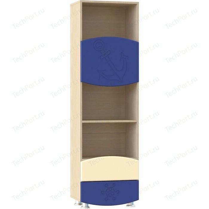Стеллаж с ящиками Compass Капитошка ДК-3 синий/ваниль шагрень ботинки для мальчика капитошка цвет синий белый 105 бп размер 25