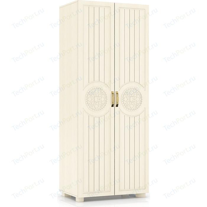 Шкаф для одежды Compass МБ-1 береза снежная венге светлый