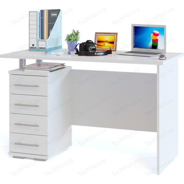 Стол компьютерный СОКОЛ КСТ-106.1 белый