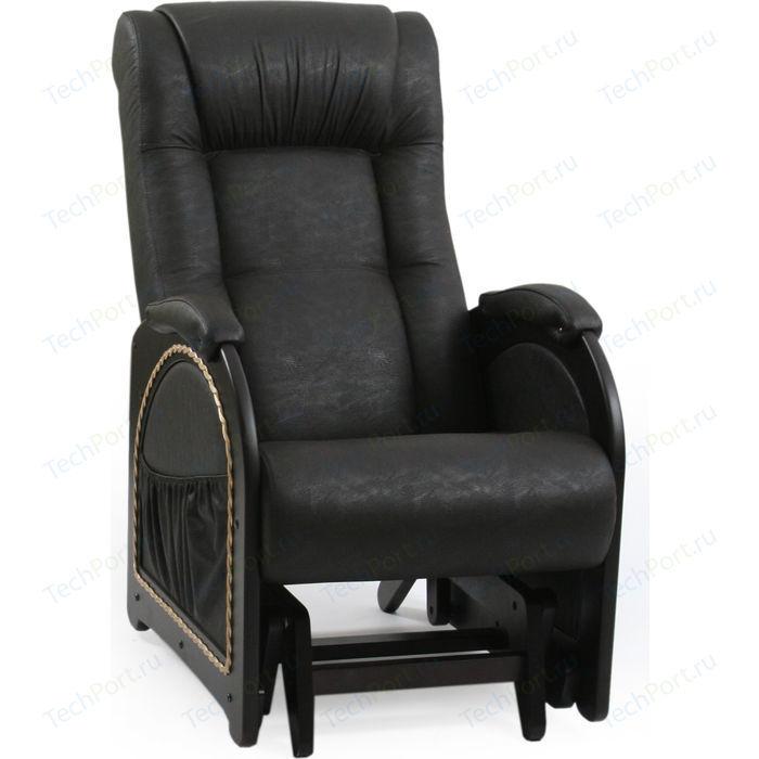 Кресло-качалка Мебель Импэкс МИ Модель 48 венге каркас венге с лозой, обивка Dundi 109