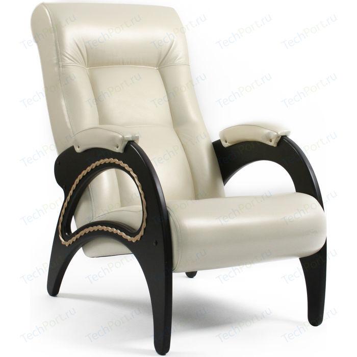 Кресло Мебель Импэкс МИ Модель 41 венге, каркас венге с лозой,обивка Орегон перламутр 106