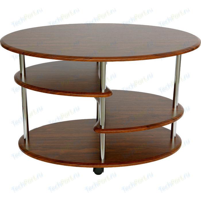 Стол журнальный Калифорния мебель Эллипс СЖ-01 орех детские столы и стулья калифорния мебель стол журнальный эль сж 01