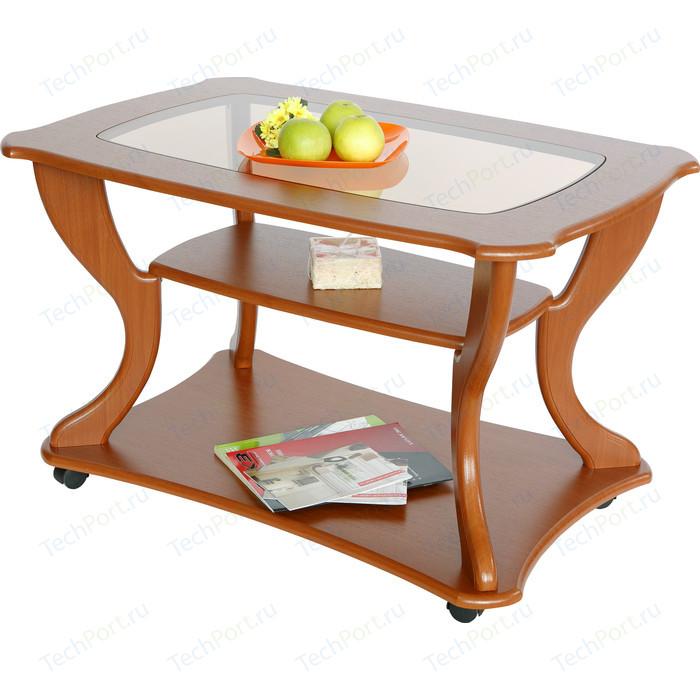 Стол журнальный Калифорния мебель Маэстро СЖС-02 со стеклом вишня стол журнальный калифорния мебель маэстро сжс 02 со стеклом дуб венге