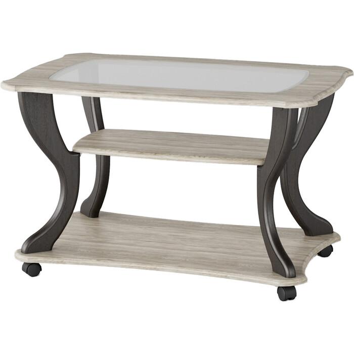 Стол журнальный Калифорния мебель Маэстро СЖС-02 со стеклом дуб/венге стол журнальный калифорния мебель юпитер со стеклом дуб сонома