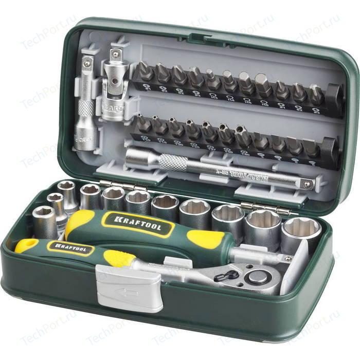 Набор торцевых головок и бит Kraftool 38 предметов Industrie (27970-H38)