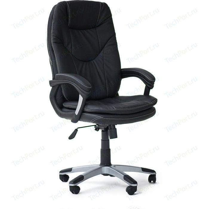 Кресло офисное TetChair COMFORT 36-6 черный / кожзам