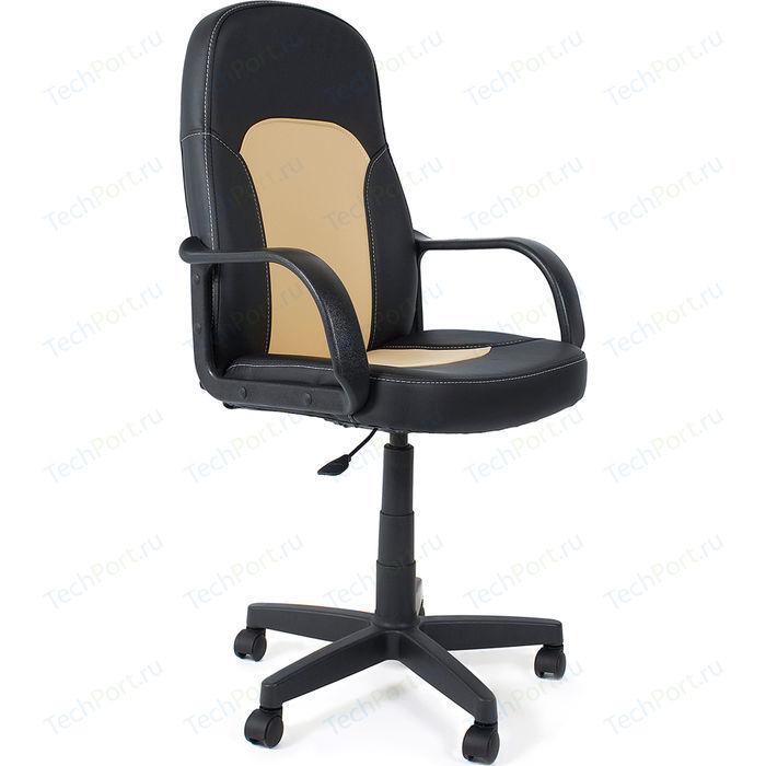 Кресло офисное TetChair PARMA 36-6/36-34 черный/бежевый