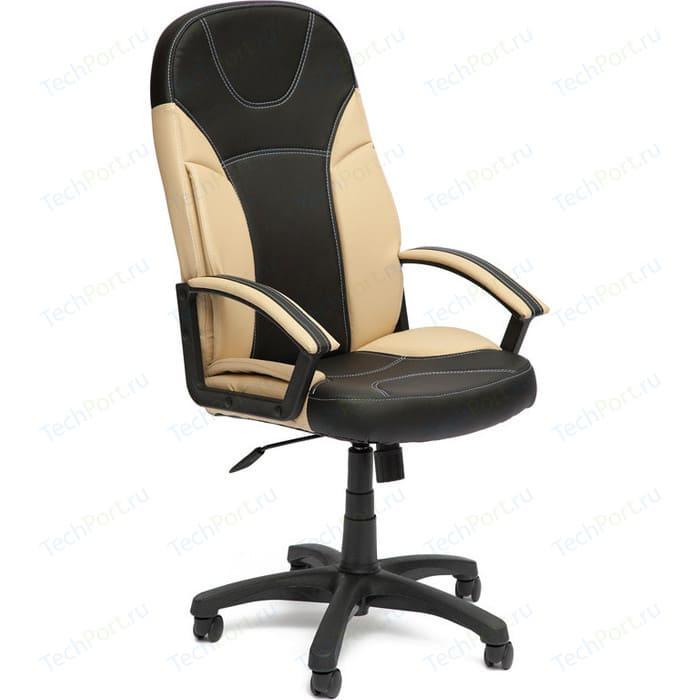 Кресло офисное TetChair TWISTER кож/зам черный/бежевый 36-6/36-34 кресло tetchair boss люкс кож зам черный черный перфорированный 36 6 36 6 06
