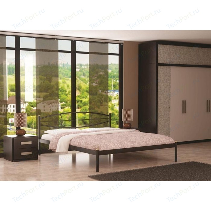Кровать Стиллмет Аура черный 180х200