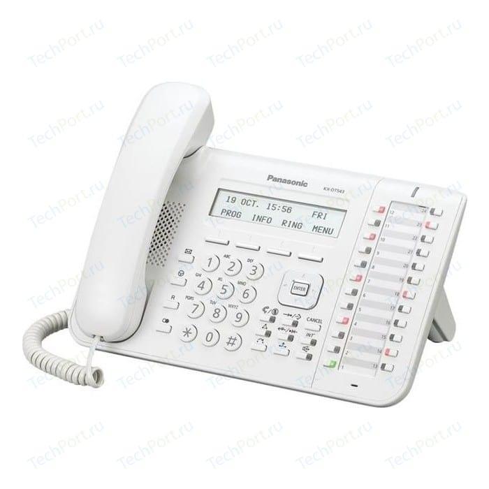 Системный телефон Panasonic KX-DT543RU panasonic kx dt346ru white цифровой системный телефон